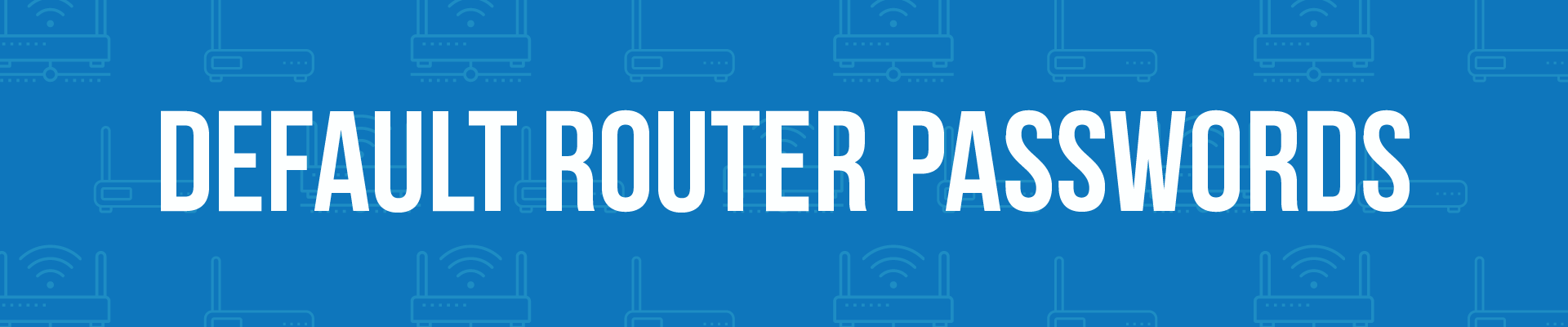 router default passwords