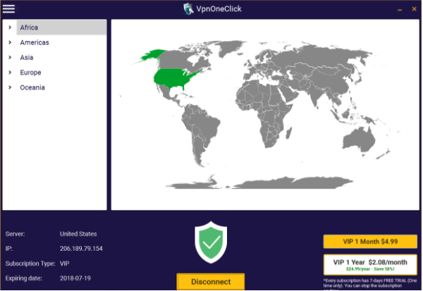 VPN One Click Review – 2019 | BestVPN org