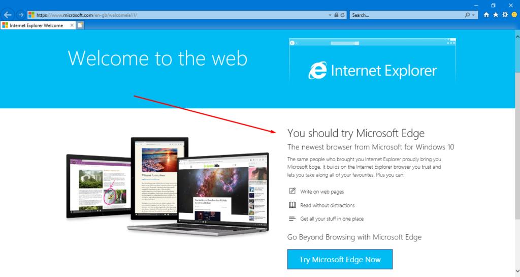 Internet Explorer browser 1